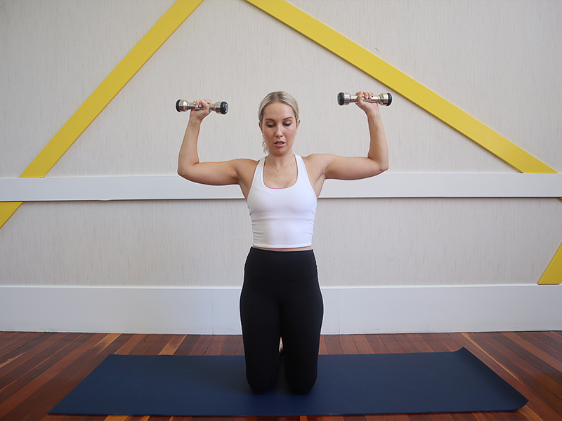 Upper Body with Weights & Glutes to finish